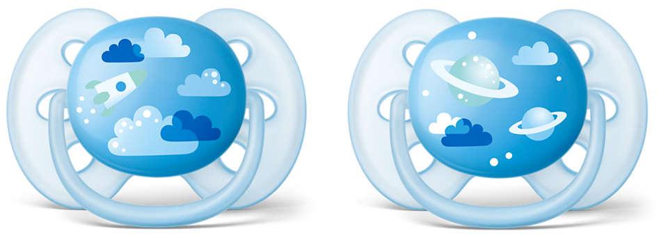 A chupeta mais macia para a pele sensível do seu bebé