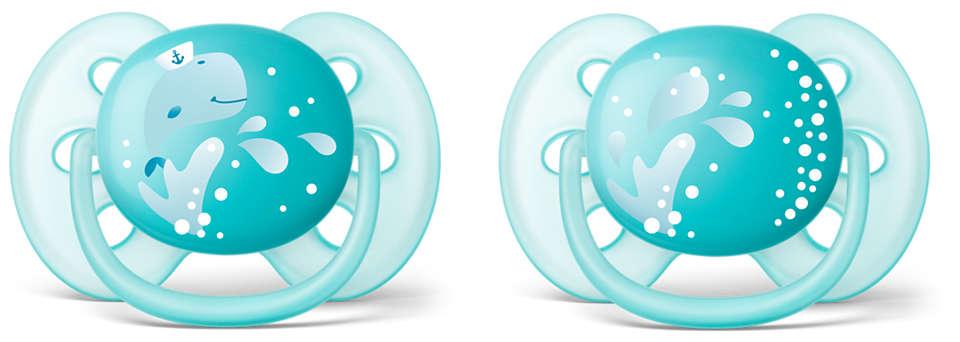 A legpuhább cumi – a baba érzékeny bőre számára*