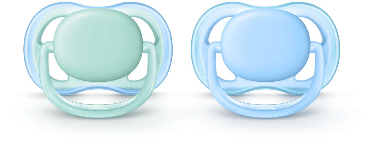 Ein leichter, atmungsaktiver Schnuller für empfindliche Haut