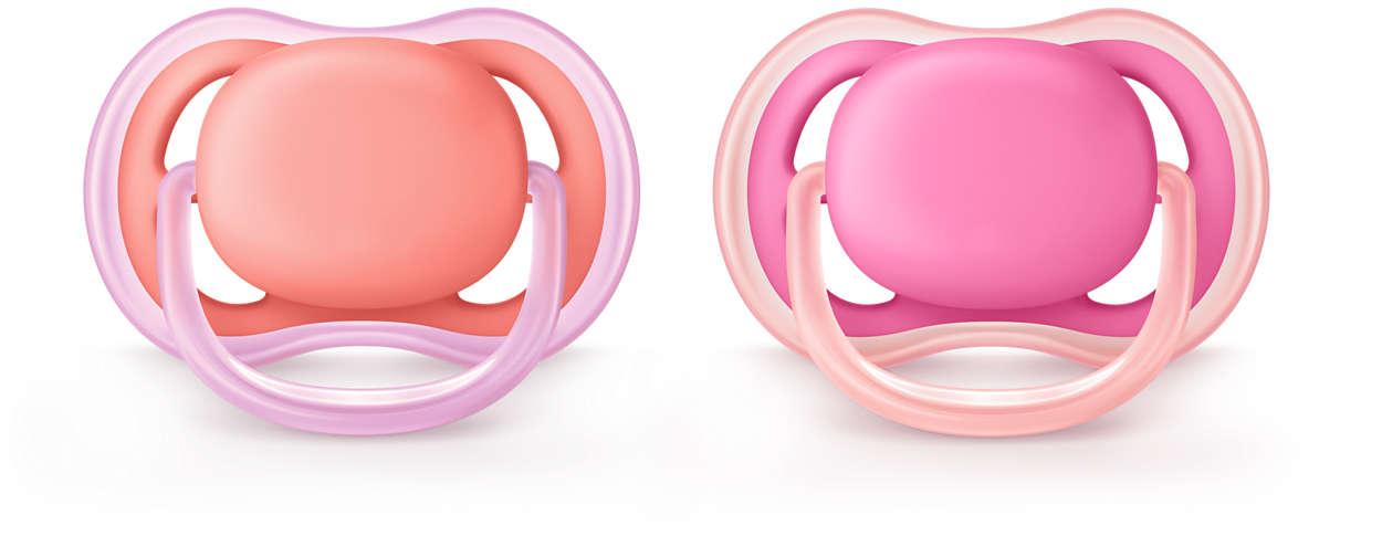 Un chupete ligero y transpirable para pieles sensibles