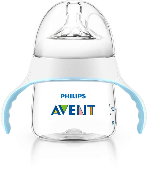 Facilita a transição do bebé para um copo