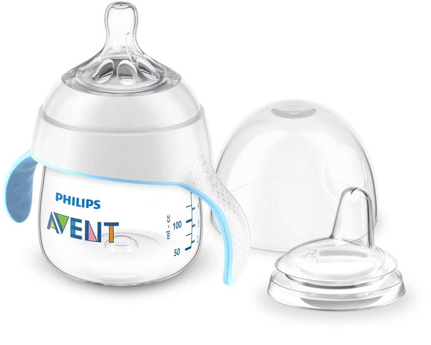 Facilitez la transition de votre bébé vers le gobelet