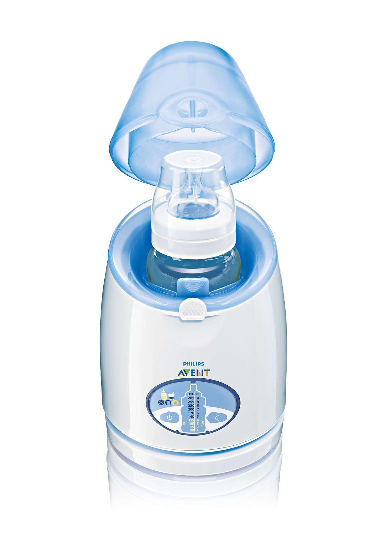 Per scaldare latte e pappe in modo veloce e intelligente