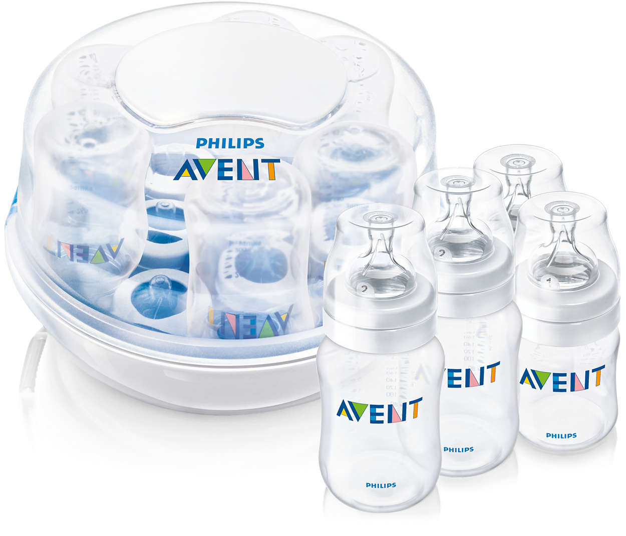 Sterilizira 6 bočica u roku od 2 minute*