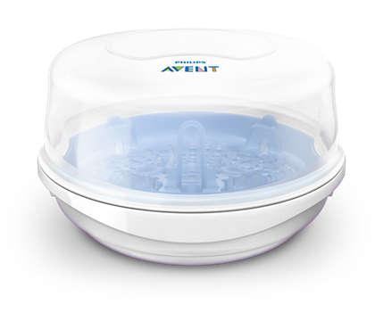 Sterilizator cu abur rapid pentru microunde