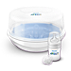 Philips Avent Microwave Steam Steriliser SCF282 Kills 99.9% of harmful germs Sterilises in 2 minutes Fits 4 Philips Avent bottles Fits most microwaves
