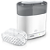 Philips Avent 4-in-1 electric steam sterilizer SCF287 Kills 99.9% of harmful germs Sterilizes in 6 minutes Fits 6 Philips Avent bottles Adjustable 4-in-1 design