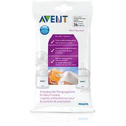 Avent Антибактериальные салфетки для детских изделий