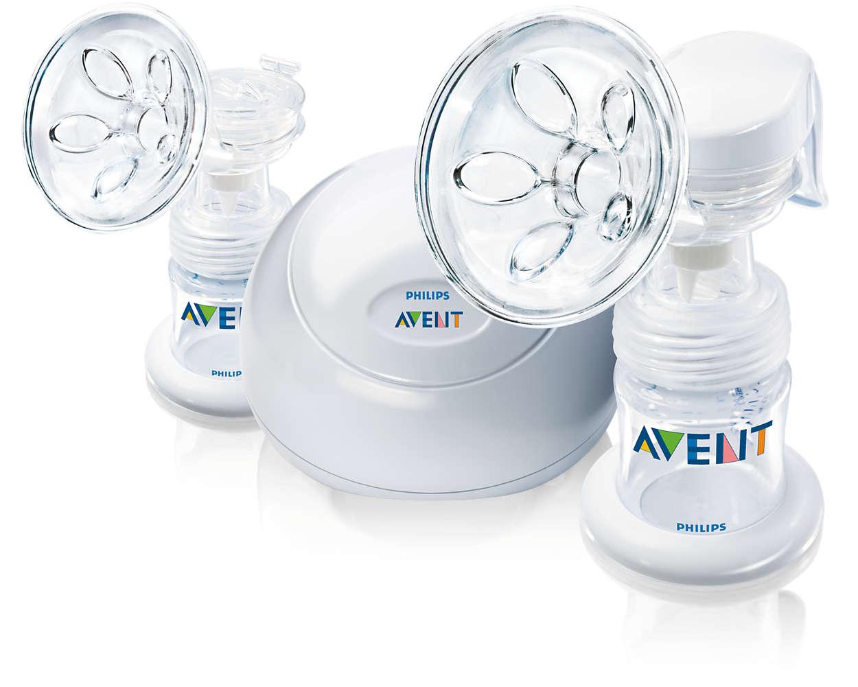 Milchpumpe für maximalen Komfort entworfen