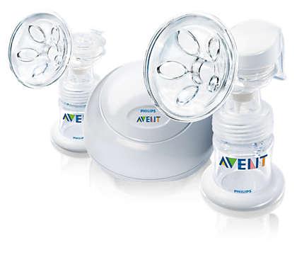 Breast pump designed for comfort