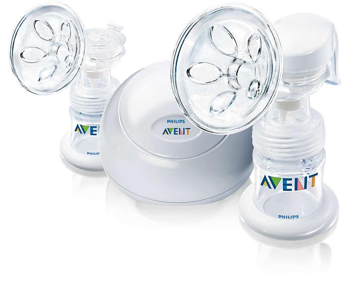 Extrator de leite desenvolvido para conforto