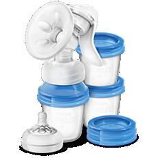 SCF330/13 - Philips Avent  Extractor de leche manual con tres recipientes