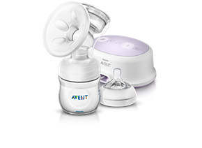 Philips Avent Comfort Single electric breast pump SCF332 Natural Includes 4oz container