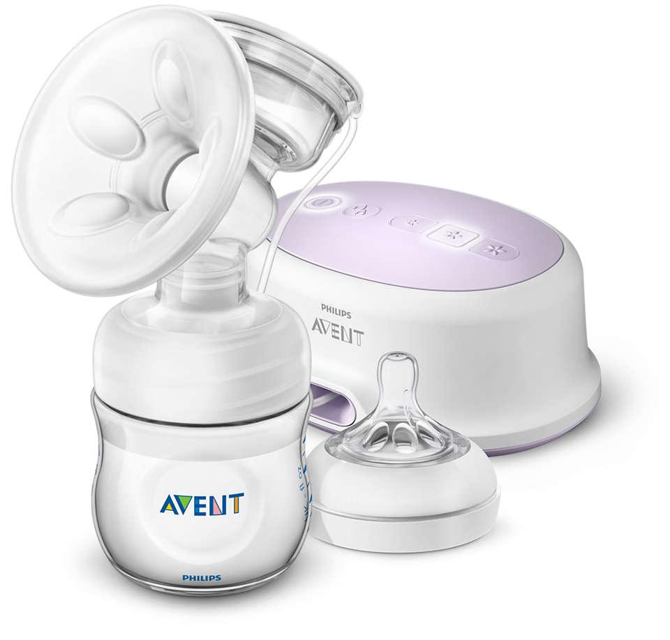 吸乳更舒適,擠出更多母乳*。隨時隨地皆可使用