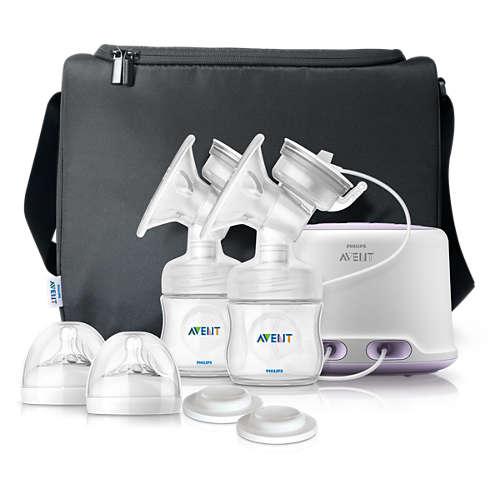 Buy Natural Comfort Double electric breast pump SCF334 12 online ... 7a0518d2d62b3