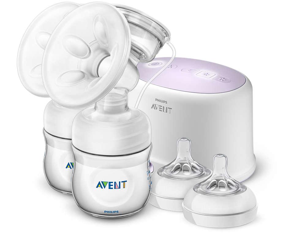 吸乳更舒適,擠出更多母乳,用時更少*