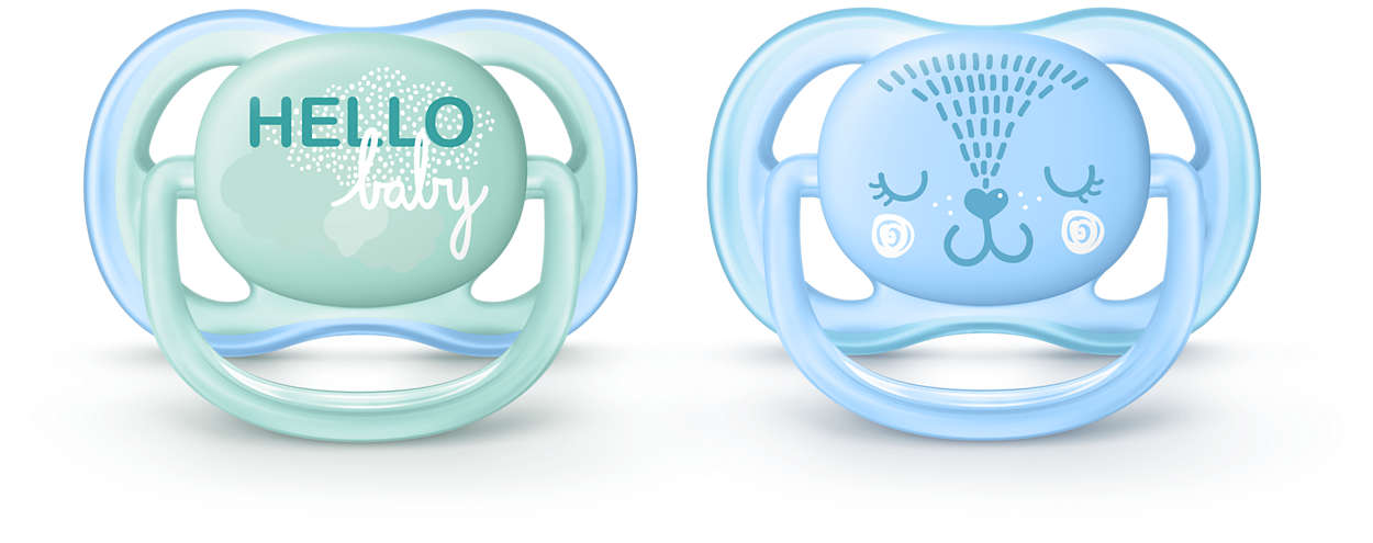 A light, breathable pacifier for sensitive skin