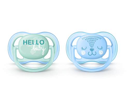 Philips Ultra Air Pacifier, 0-6 Months, Blue/Green, Fashion Decos