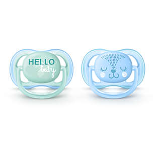 Avent ultra air pacifier 0-6m, 2 pack