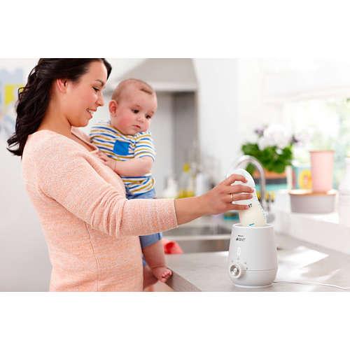 Avent Flaschenwärmer, der die Nährstoffe erhält