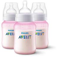 3 Bottles 9oz/260ml Anti-colic baby bottle