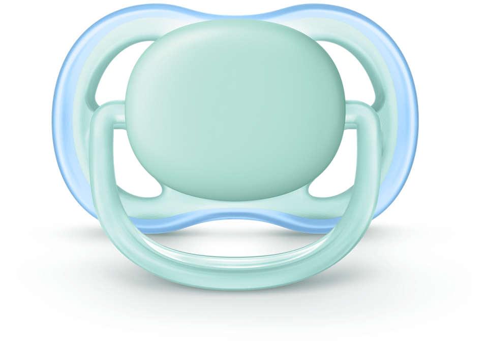 Hassas ciltler için hafif, nefes alabilen emzik