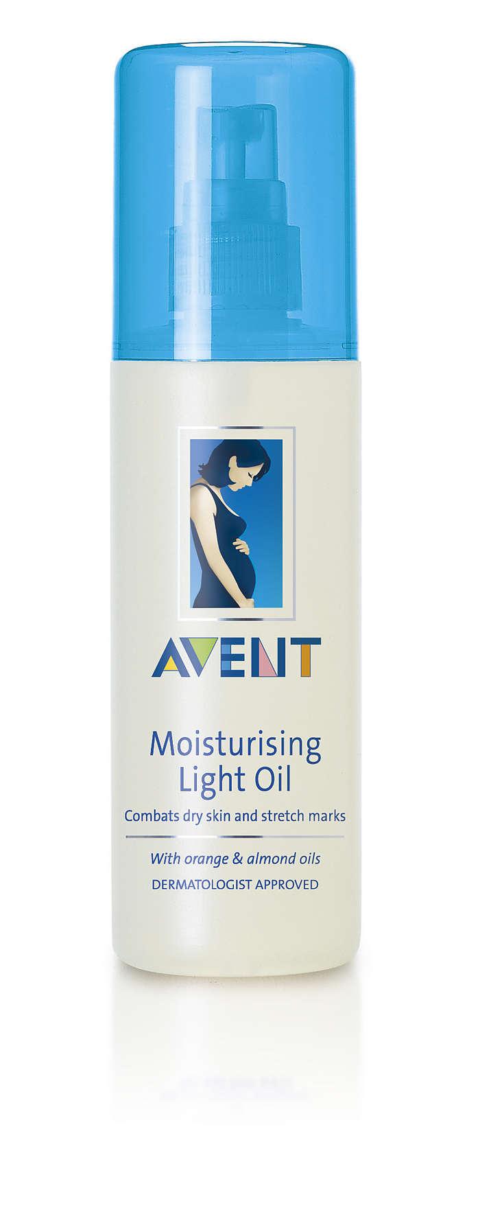 Помага срещу суха кожа и стрии