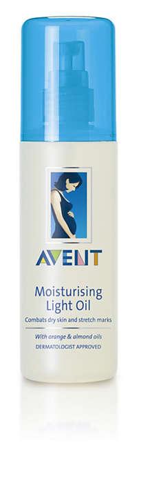 Preprečuje suho kožo in strije