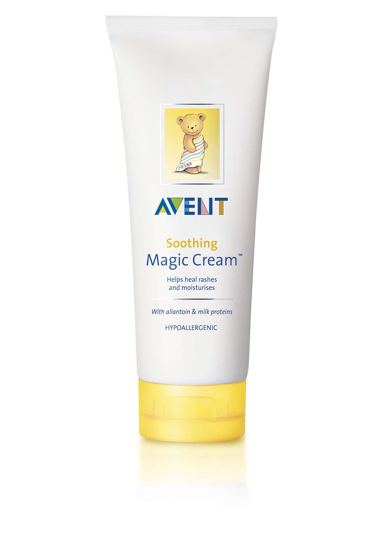 Helps heal rashes and moisturises