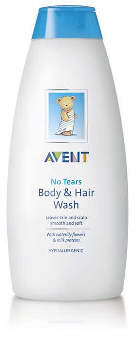 Deixa a pele e o couro cabeludo suaves e macios