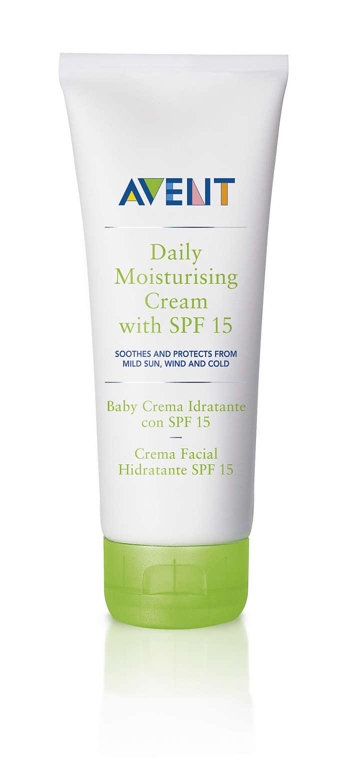 Soothes and protects from mild sun, wind and cold
