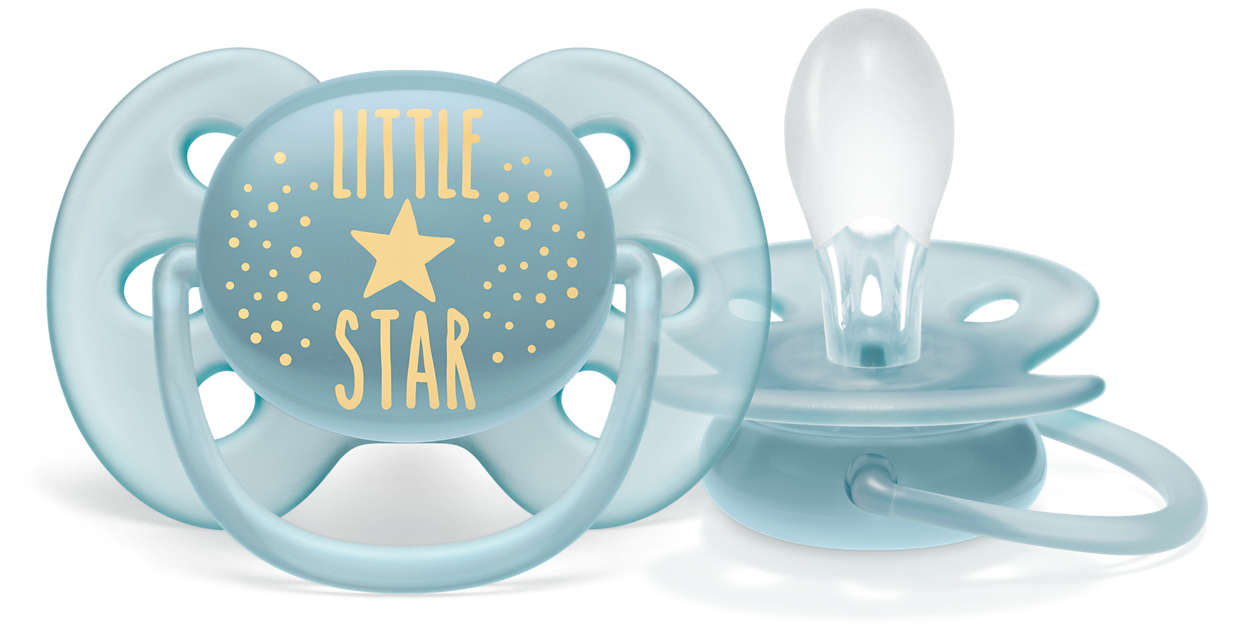 A chupeta mais macia para a pele delicada do seu bebê*