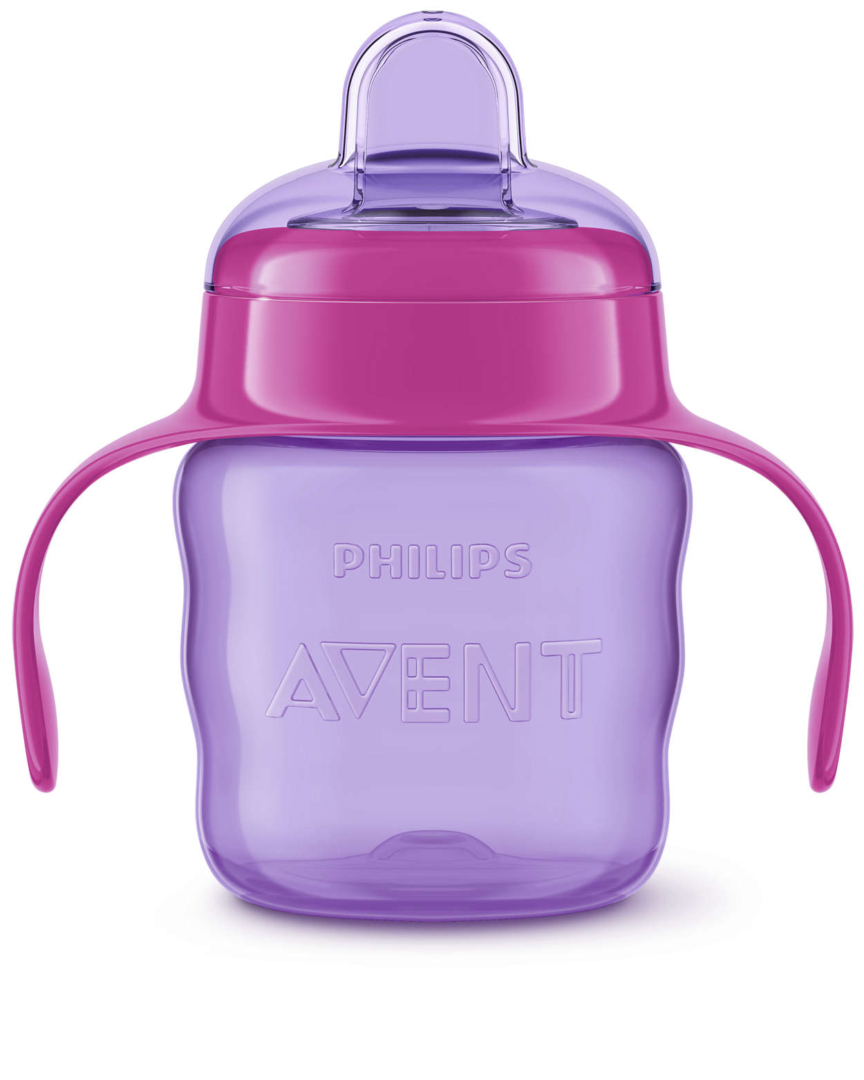 200 ml, Pink Philips Avent Easy Sip Spout Cup with Handle