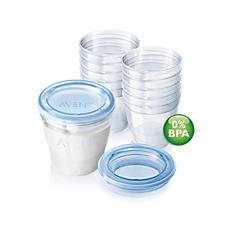 SCF612/10 - Philips Avent  Tarritos para leche materna Avent