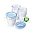 Pots de conservation pour lait maternel Avent