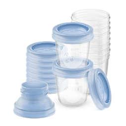 Avent Чашки за съхраняване на кърма