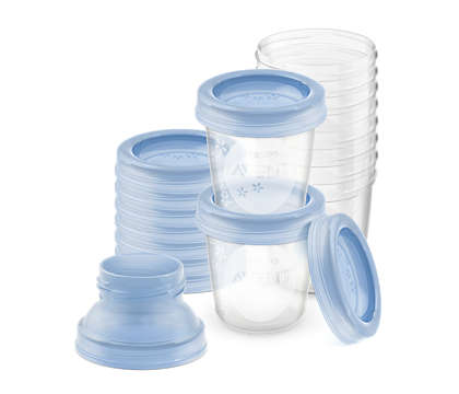 Almacene la leche materna en forma segura