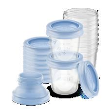 SCF618/10 Philips Avent Pots de conservation pour lait maternel