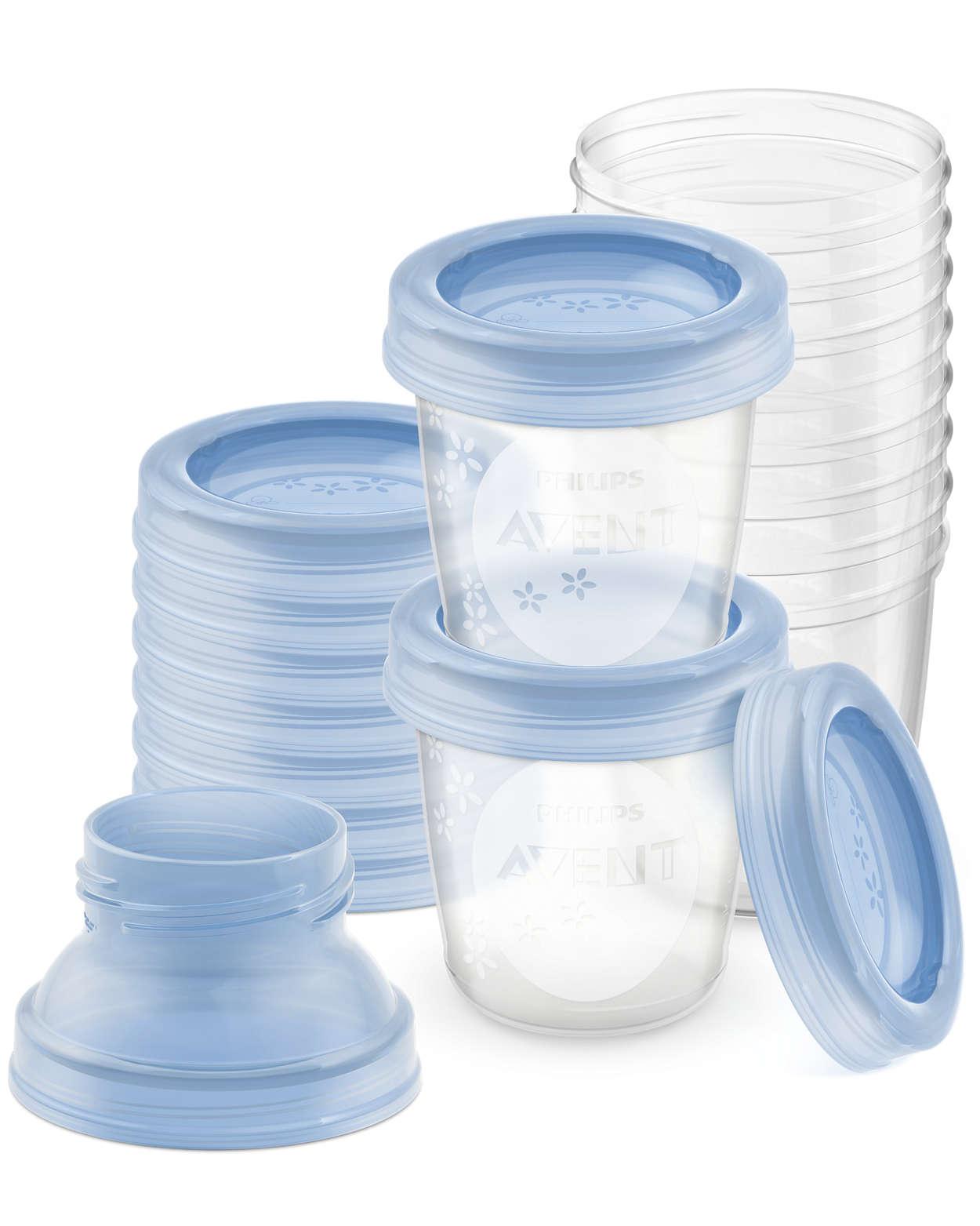 Armazene o leite materno com segurança