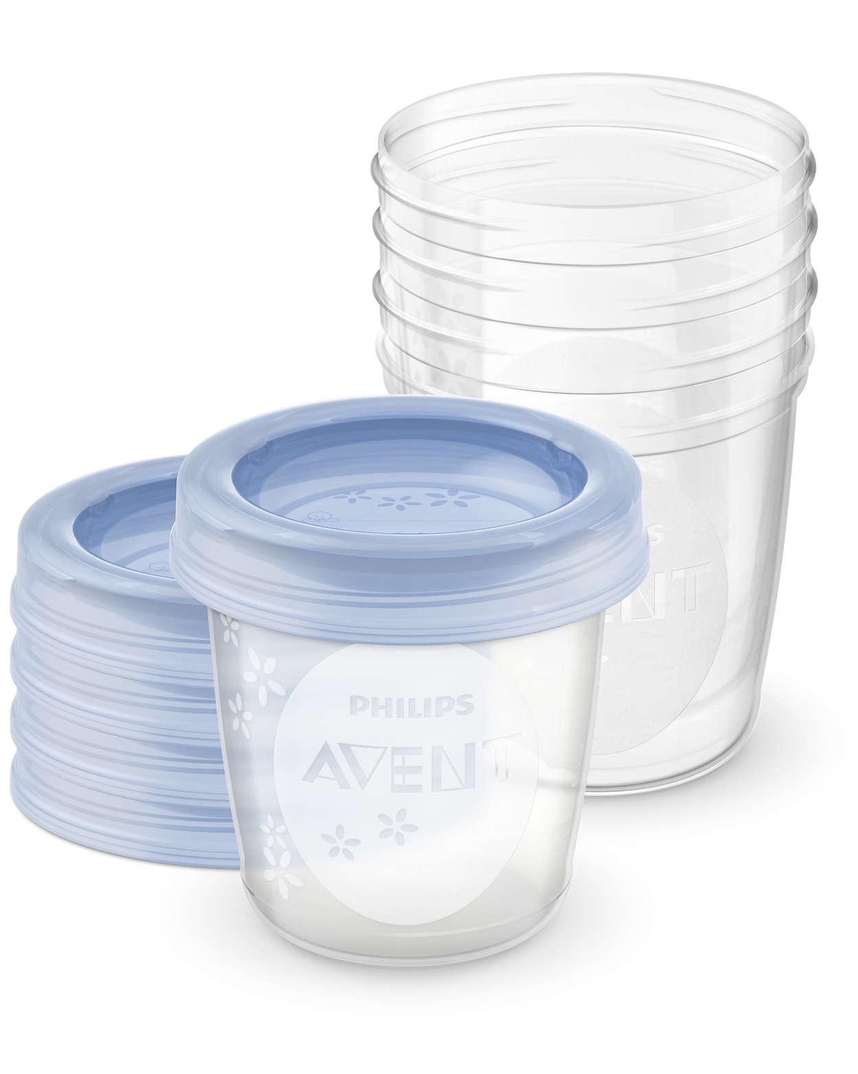 Almacenamiento seguro de la leche materna