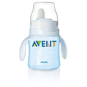 125 ml/ 4 oz Baby Bottle to first trainer cup