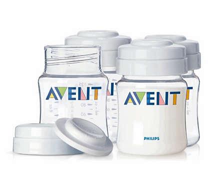 Praktické skladování mateřského mléka