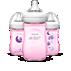 Philips Avent Baby bottle SCF644/32 3 Natural bottles 9oz/260ml Slow flow nipple Natural nipple shape
