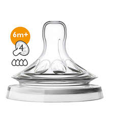 Avent Natural Baby Bottle Nipple, Fast Flow
