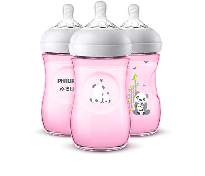 Philips Avent Panda Bottles, Natural