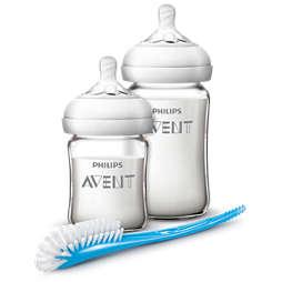 Avent 自然原生系列玻璃婴儿奶瓶喂养套装