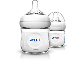 Philips Avent Natural baby bottle SCF690 27 2 Bottles 4oz 125ml Newborn flow nipple 0m