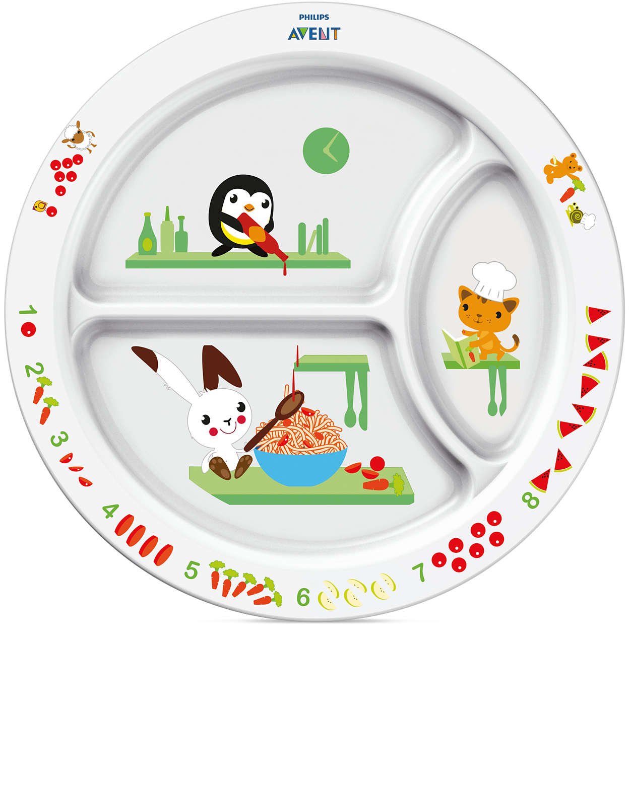 Encourages eating through fun learning