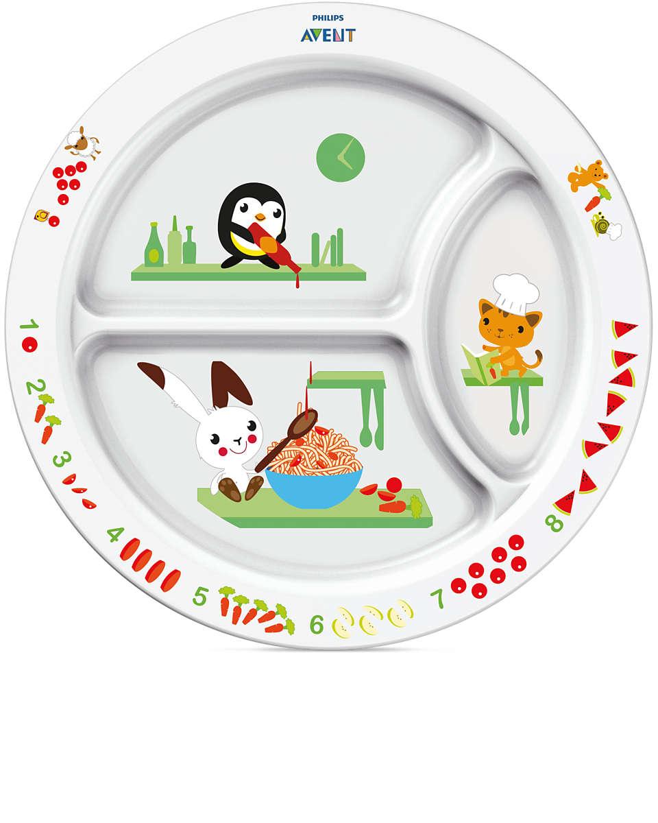 Incentiva a alimentação através da aprendizagem divertida