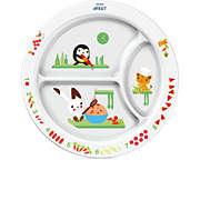 Avent 12ay+ çocuklar için bölmeli tabak